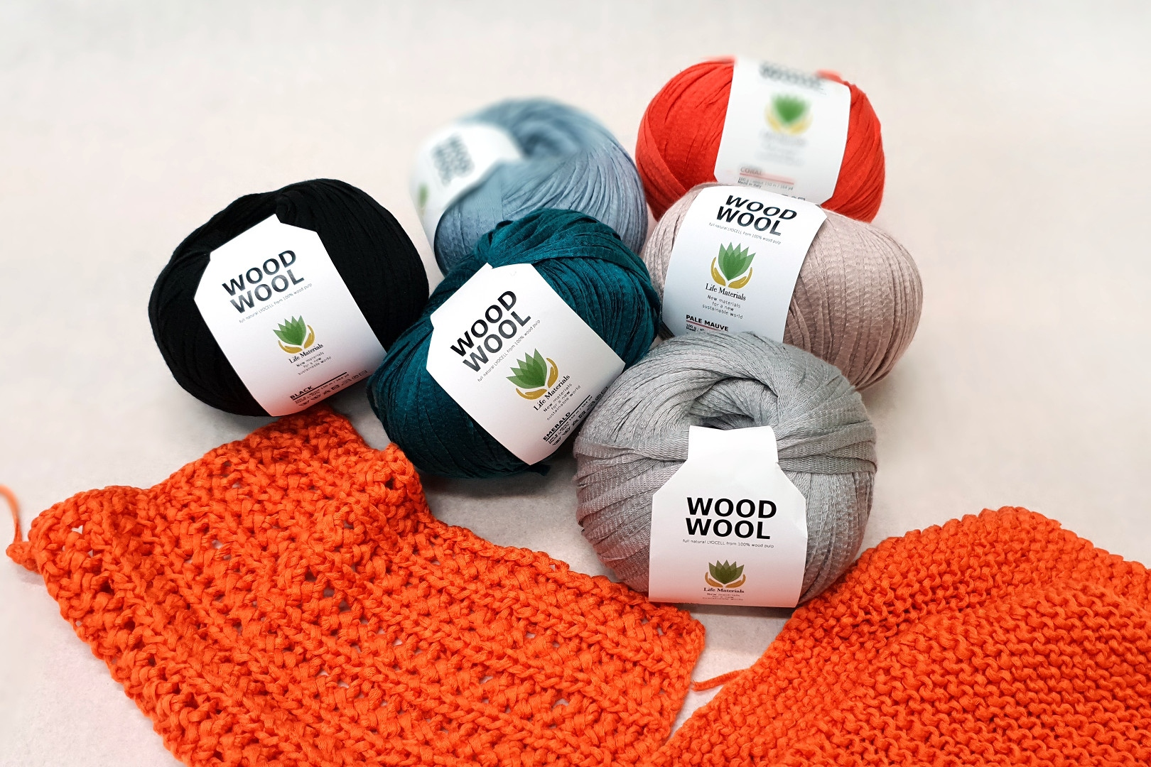 Wood Wool – Knitting yarn 100% from wood pulp Image